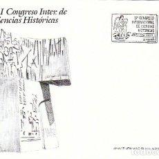 Sellos: EDIFIL 3075, CONGRESO INTERNACIONAL DE CIENCIAS HISTORICAS, PRIMER DIA DE 27-8-1990 FLASH. Lote 194304955