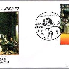 Sellos: MATASELLOS MARCA ESPAÑA - LAS MENINAS - VELAZQUEZ. MADRID 2014. Lote 194324543