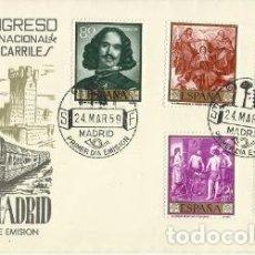 Sellos: SOBRE SPD (A.64) PRIMER DÍA DE CIRCULACIÓN XVII CONGRESO INTERNACIONAL DE FERROCARRILES, MADRID. Lote 194326102