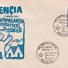 Sellos: PIDA PONGAN EL Nº DEL DISTRITO POSTAL EN LAS CARTAS, VALENCIA 1964. MATASELLOS SOBRE DE EG. MUY RARO. Lote 194338198