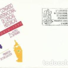 Sellos: SOBRE PRIMER DÍA – 17 CONGRESO INTERNACIONAL DE CIENCIAS HISTÓRICAS. LOGOTIPO. 1990. Lote 194347805