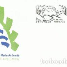 Sellos: SOBRE PRIMER DÍA – DIA MUNDIAL DEL MEDIOAMBIENTE 1992 LOGOTIPO. Lote 194349188
