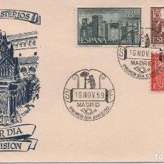 Sellos: SOBRE ILUSTRADO PRIMER DÍA DEL MONASTERIO DE GUADALUPE. Lote 194356843
