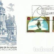 Sellos: SPD.2 SOBRES PRIMER DÍA MADRID CAPITAL EUROPEA DE LA CULTURA 1991 SFC – A.799. Lote 194573215