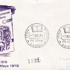 Sellos: IMPRENTA III FERIA NACIONAL DEL LIBRO, OVIEDO (ASTURIAS) 1972. MATASELLOS EN SOBRE CIRCULADO ALFIL.. Lote 194632613