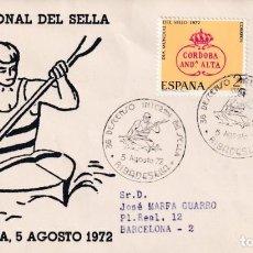 Sellos: DEPORTES 36 XXXVI DESCENSO INT SELLA, RIBADESELLA (ASTURIAS) 1972 RARO MATASELLOS EN SOBRE ALFIL MPM. Lote 194633126