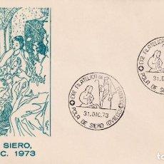 Sellos: NAVIDAD EXPOSICION FILATELICA, POLA DE SIERO (ASTURIAS) 1973. RARO MATASELLOS EN SOBRE ALFIL. MPM.. Lote 194727763