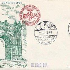 Sellos: XXIV FERIA OFICIAL E INTERNACIONAL DE MUESTRAS. BARCELONA 1956. SOBRE CON MATASELLOS ESPECIAL.. Lote 194775408