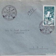 Sellos: EXPOSICIÓN FILATÉLICA DEPORTIVA. BARCELONA 1958. SOBRE CON MATASELLOS ESPECIAL.. Lote 194775613