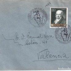 Sellos: IV CENTENARIO CARLOS I DE ESPAÑA. BARCELONA 1958. SOBRE CON MATASELLOS ESPECIAL.. Lote 194777341