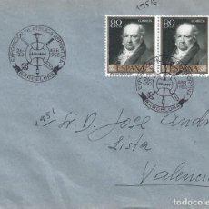 Sellos: EXPOSICIÓN FILATÉLICA DEPORTIVA. BARCELONA 1958. SOBRE CON MATASELLOS ESPECIAL.. Lote 194777511