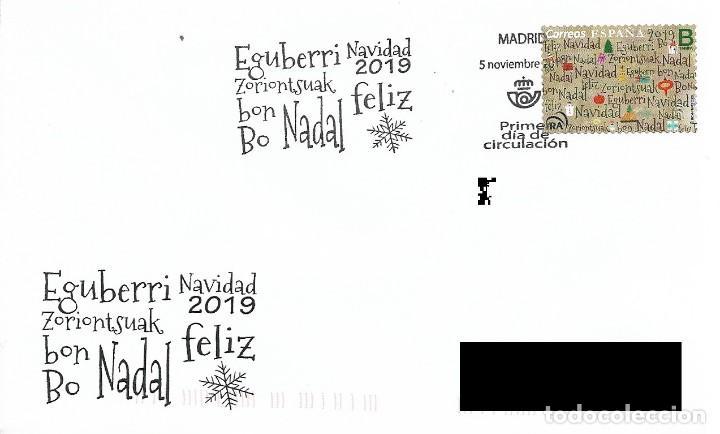 ESPAÑA. SOBRE PRIMER DIA. NAVIDAD 2019 (Sellos - Historia Postal - Sello Español - Sobres Primer Día y Matasellos Especiales)