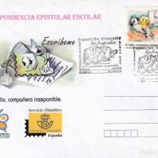 Sellos: VIVE LA NATURALEZA EXPOSICION ITINERANTE ALMERIA MONTILLA SEVILLA MIERES 2000. RARO MATASELLOS SOBRE. Lote 194959531