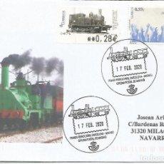 Sellos: MATARO BARCELONA MAT TURISTICO NUEVO DISEÑO FERROCARRIL RAILWAY TREN . Lote 194990193