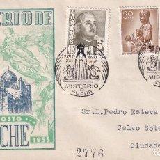 Sellos: RELIGION MISTERIO DE ELCHE, ELCHE (ALICANTE) 1955. MATASELLOS EN SOBRE CIRCULADO DE EG. MUY RARO MPM. Lote 195141627