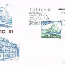 Sellos: EDIFIL 2900 Y 2, PEÑÓN DE IFACH (ALICANTE) Y VILLACARRIEDO (CANTABRIA), PRIMER DIA 10-6-1987 SFC. Lote 195158487