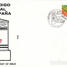Sellos: EDIFIL 2906, ANIVERSARIO DE LA IMPLANTACION DEL CODIGO POSTAL, PRIMER DIA DE 1-6-1987 SFC. Lote 195158545