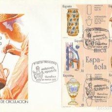 Sellos: EDIFIL 2891/6, ARTESANIA ESPAÑOLA: CERAMICA, PRIMER DIA DE 20-3-1987 SFC. Lote 195158825