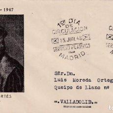 Sellos: HERNAN CORTES PERSONAJES 1948 (EDIFIL 1035) EN SOBRE PRIMER DIA DE ET. BONITO Y RARO ASI.. Lote 195183518