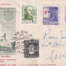 Sellos: HERNAN CORTES PERSONAJES 1948 (EDIFIL 1035) EN SOBRE PRIMER DIA DE EDICIONES ORBE MOD 2. RARO ASI.. Lote 195183611