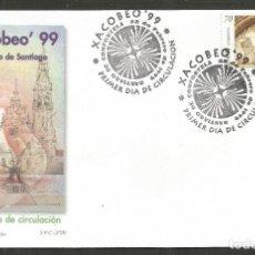 Sellos: ESPAÑA SOBRE PRIMER DIA CIRCULACION 2/99 XACOBEO´99 SANTIAGO DE COMPOSTELA EDIFIL NUM. 3618. Lote 195186622