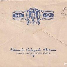 Sellos: HERNAN CORTES 1948 400 ANIVERSARIO SOBRE EDUARDO CABEZUDO ASTRAIN CIRCULADO A ZUMAYA. RARO ASI. MPM.. Lote 195187836