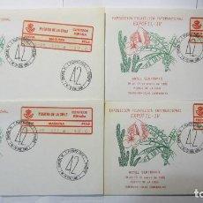 Sellos: ATM EPELSA EXPOFIL IV + VI 1985-1987 PUERTO DE LA CRUZ TENERIFE, 6 SOBRES CON DIFERENTES VALORES. Lote 195254971