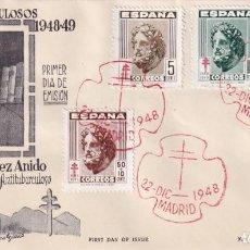 Sellos: SANATORIO GENERALISIMO FRANCO PRO TUBERCULOSOS 1948 (EDIFIL 1040/43) EN SPD SIN CIRCULAR DE ET. MPM.. Lote 195284918