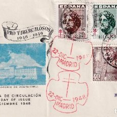 Sellos: SANATORIO DE PORTA-COELI PRO TUBERCULOSOS 1948 (EDIFIL 1040/43) SPD CIRCULADO EDICIONES ORTIN. MPM.. Lote 195285215