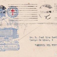 Sellos: PRO TUBERCULOSOS 1948 (EDIFIL 1042) SOBRE PRIMER DIA CIRCULADO ALFIL SIN MATASELLO ROJO MUY RARO MPM. Lote 195287875