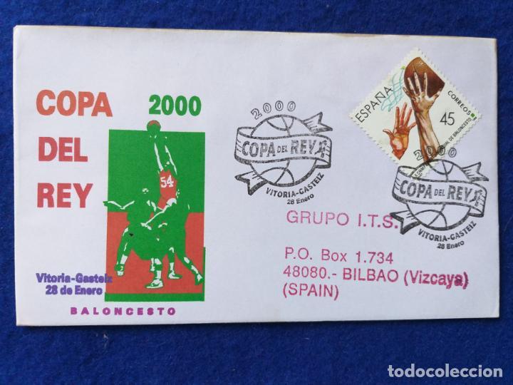 SOBRE CON MATASELLOS. COPA DEL REY DE BALONCESTO. VITORIA-GASTEIZ, ALAVA, 2000 (Sellos - Historia Postal - Sello Español - Sobres Primer Día y Matasellos Especiales)