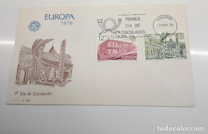 ESPAÑA .EDIFIL 2474-2475 SPD EUROPA CEPT ARQUITECTURA (Sellos - Historia Postal - Sello Español - Sobres Primer Día y Matasellos Especiales)