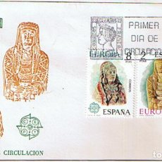 Sellos: EDIFIL 2177/78 DAMA DE BAZA EUROPA CEPT. SOBRE Y SELLO PRIMER DIA CIRCULACIÓN. Lote 195438760