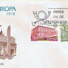 Sellos: EDIFIL 2474/75 EUROPA CEPT 1978. SOBRE Y SELLO PRIMER DIA CIRCULACIÓN. Lote 195438923