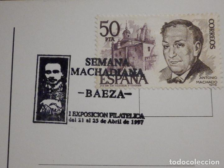 Sellos: Postal Baeza - Matasellos Semaba Machadiana - Antonio Machado - 21-25 abril 1997 - Foto 2 - 195513921