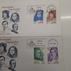 Sellos: ESPAÑA EDIFIL 2512-2515 SOBRES PRIMER DIA.S.F.C.-A514 LITERATOS MEDICO. Lote 195541936