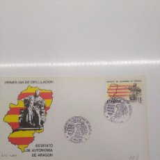 Sellos: ESPAÑA EDIFIL 2736 SOBRE PRIMER DIA S.F.C.-A 620 AUTONOMIA DE ARAGON MATASELLOS ZARAGOZA. Lote 195601468