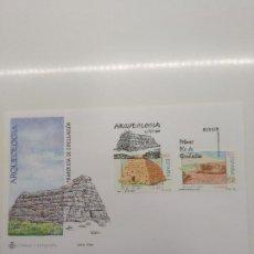 Sellos: ESPAÑA EDIFIL 3448-3449 SOBRE PRIMER DIA S.F.C. 17 /1996 ARQUEOLOGIA MENORCA Y TERUEL. Lote 195602250