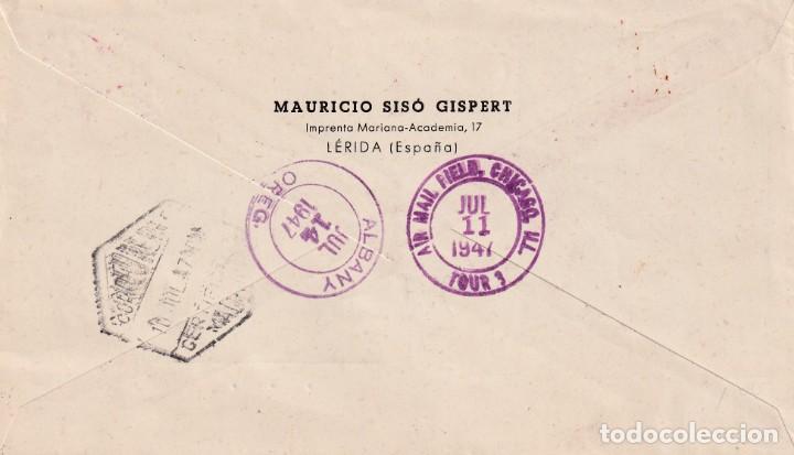Sellos: DON QUIJOTE CERVANTES RUTA DEL QUIJOTE, MONTIEL 1947. MATASELLOS EN SOBRE CIRCULADO DP MUY RARO MPM - Foto 2 - 195776018