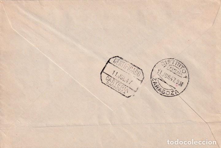 Sellos: DON QUIJOTE CERVANTES RUTA DEL QUIJOTE, MONTIEL (CIUDAD REAL) 1947. RARO MATASELLOS EN CARTA. MPM. - Foto 2 - 195776150