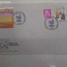 Sellos: FERIA TECNICA INTERNACIONAL MAQUINARIA AGRICOLA ZARAGOZA 1989 FIMA. Lote 195942975