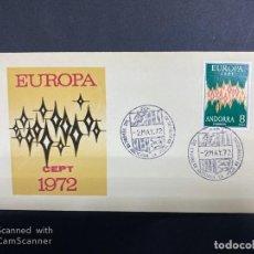 Sellos: SOBRE PRIMER DIA. ANDORRA. EUROPA 72. . Lote 196048220