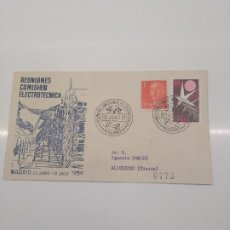 Sellos: REUNION COMISION ELECTROTECNICA MADRID 1959 ALFIL. Lote 196116851