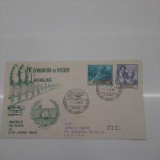 Sellos: 4º CONGRESO INTERNACIONAL RIEGOS Y DRENAJES MADRID 1960 AGRICULTURA . Lote 196175200