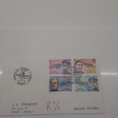 Sellos: EXPOSICION AVIACION Y ESPACIO 1980 MADRID ZEPPELIN EDIFIL 2595-2596-2597-2598 CERTIFICADO. Lote 196175320