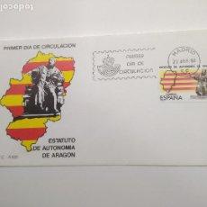 Sellos: ESPAÑA SOBRE PRIMER DIA MADRID1984 EDIFIL 2736 BANDERAS Y EL JUSTICIA. Lote 196244172