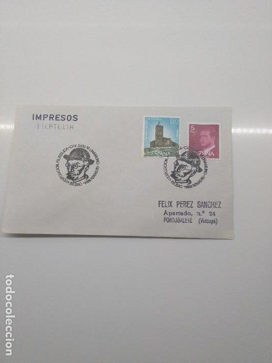 EXPOSICION FILATELICA CXX ANIVERSARIO M. UNAMUNO BILBAO 1984 (Sellos - Historia Postal - Sello Español - Sobres Primer Día y Matasellos Especiales)