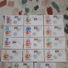 Selos: COLECCION 14 SOBRES PRIMER DIA CIRCULACION COPA MUNDIAL DE FUTBOL ESPAÑA 82 - SEDES. Lote 196756042