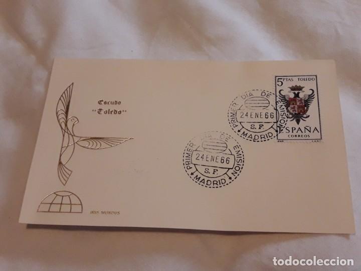 ANTIGUO SOBRE ESCUDO TOLEDO IRIS MUNDUS AÑO 1966 (Sellos - Historia Postal - Sello Español - Sobres Primer Día y Matasellos Especiales)