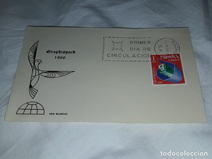 ANTIGUO SOBRE GRAPHISPACK IRIS MUNDUS AÑO 1966 (Sellos - Historia Postal - Sello Español - Sobres Primer Día y Matasellos Especiales)
